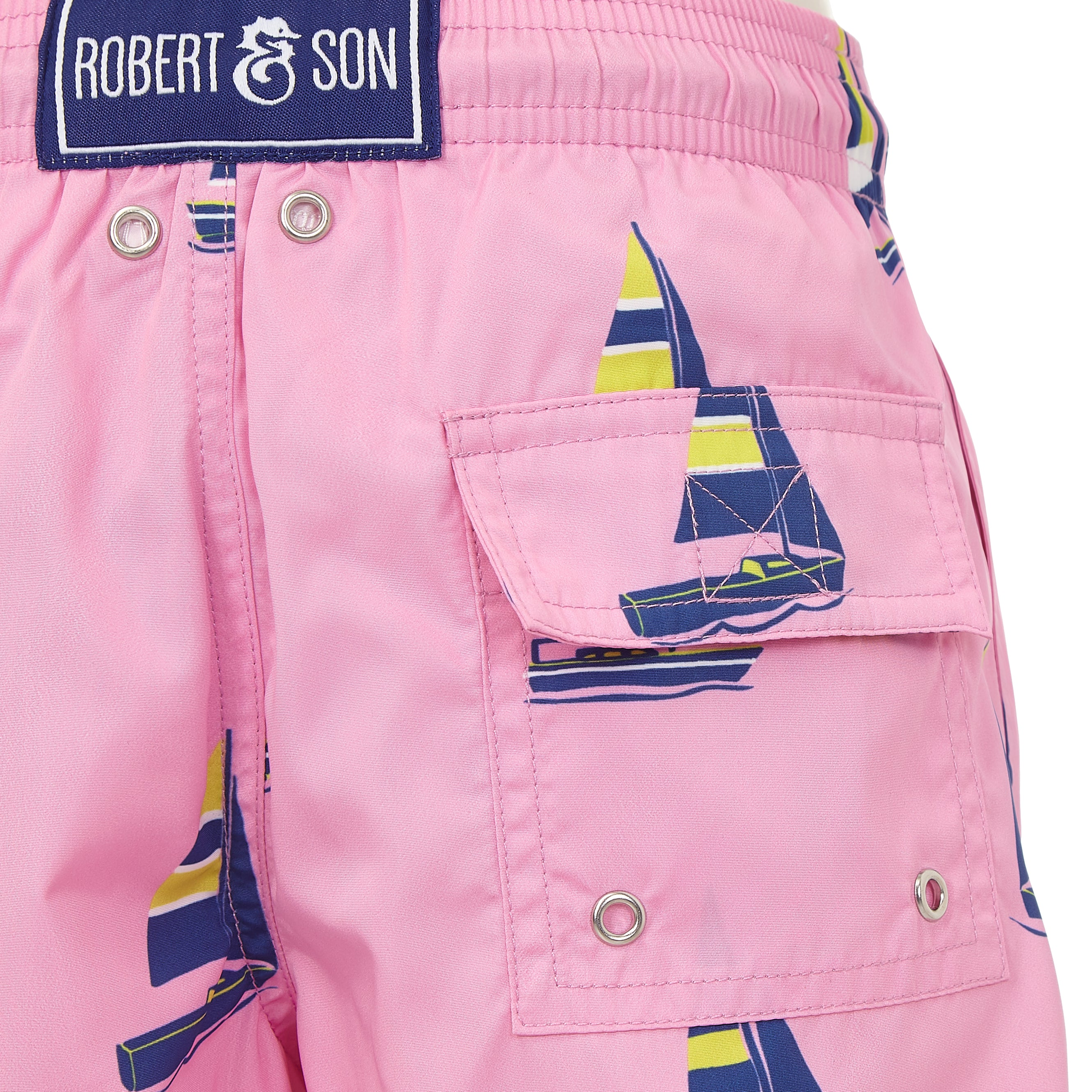 Pink Sailing Boats - Boys Swim Shorts