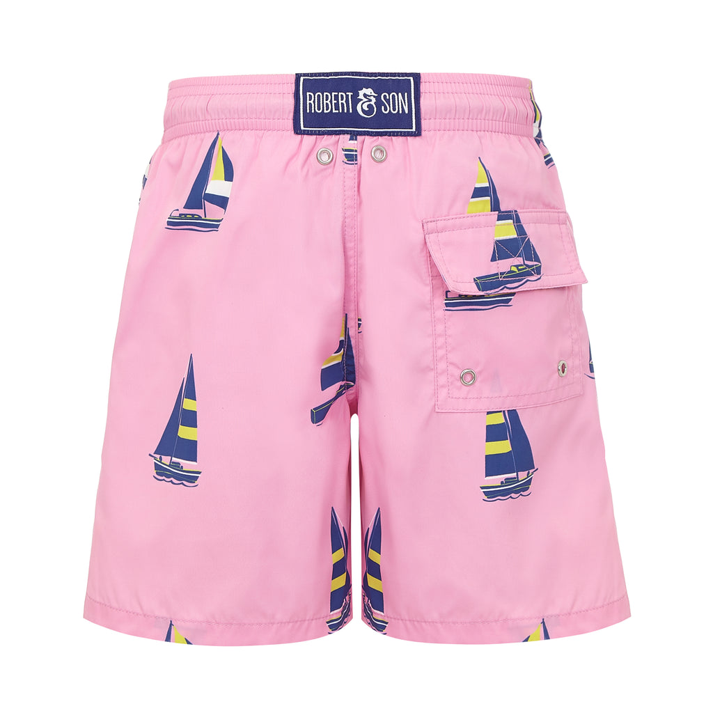 Pink Sailing Boats- Baby Swim Shorts