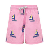 Pink Sailing Boats - Boys Swim Shorts - RobertandSon