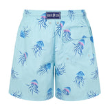 Aqua Jellyfish - Mens Designer Swim Shorts - Back