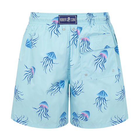 Aqua Jellyfish - Mens Designer Swim Shorts - RobertandSon