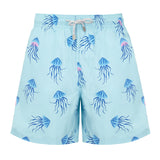 Aqua Jellyfish - Mens Designer Swim Shorts - Front