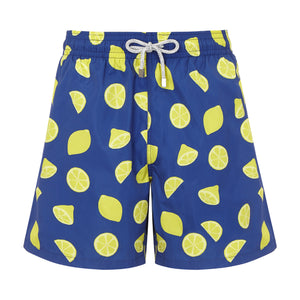 Blue Lemons - Men's Designer Swim Shorts - RobertandSon