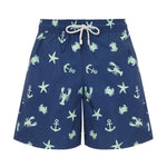 Father and Son Swim Shorts, Navy Ocean Adventure