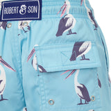 Light Blue Pelicans - Boys Swim Shorts - RobertandSon