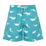 Turquoise Whales - Men's Designer Swim Shorts - RobertandSon