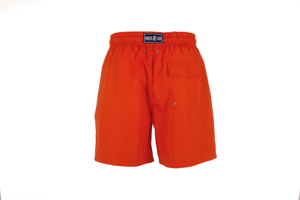 Red Plain - Men's Designer Swim Shorts - RobertandSon