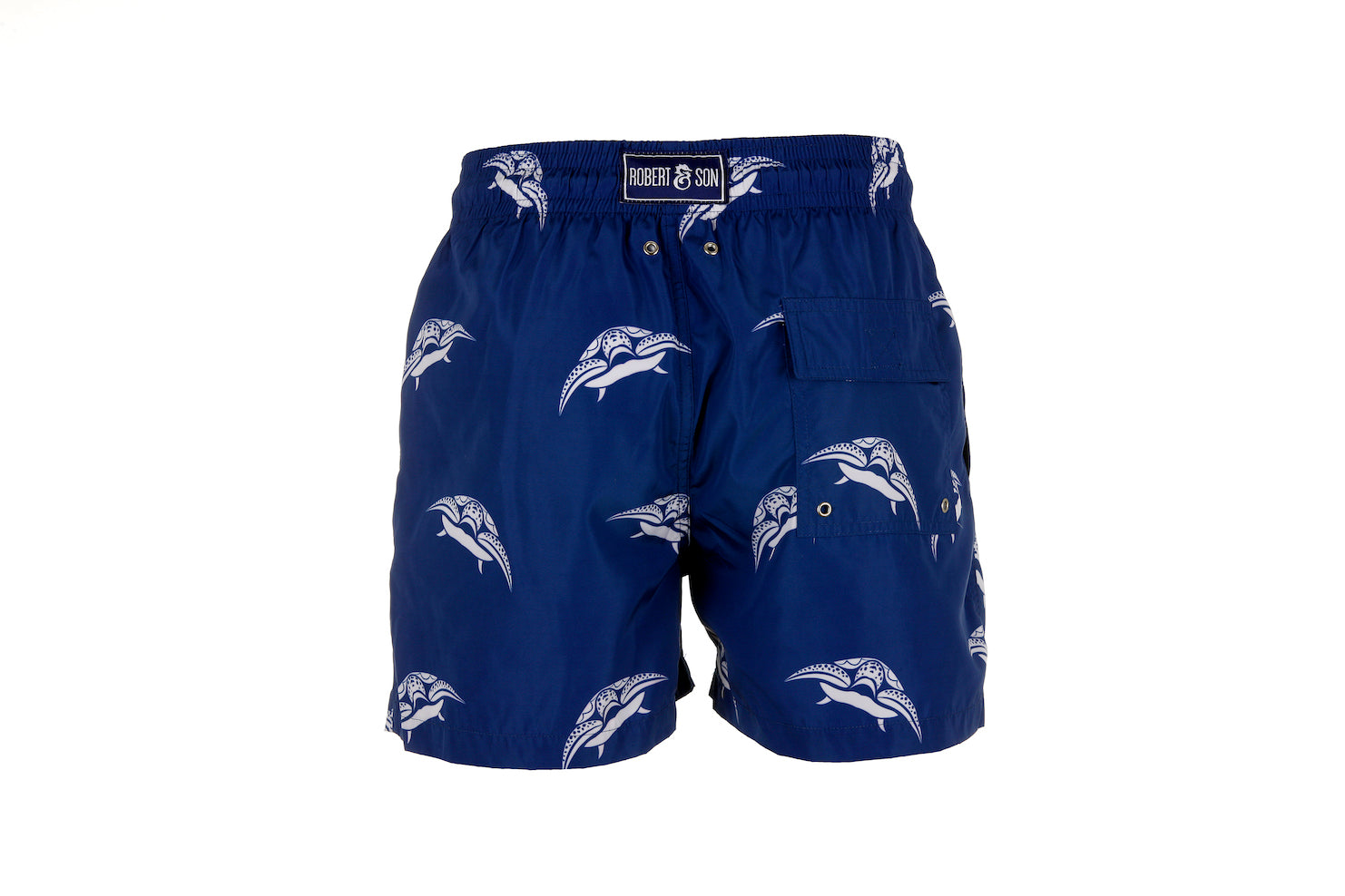 Blue Turtle Men's Designer Swim Shorts Back