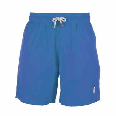 Father and Son Designer Swim Shorts, Blue Plain