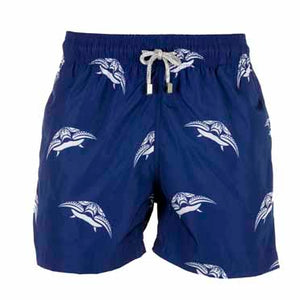 Blue Turtle Men's Designer Swim Shorts Front