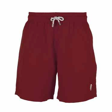 Burgundy Plain - Boys Swim Shorts,
