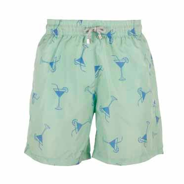 Green Cocktail Men's Designer Swim Shorts