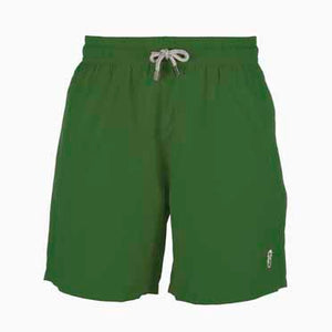 Father and Son Designer Swim Shorts, Green Plain