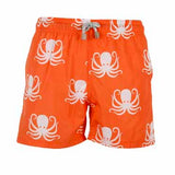 Orange Octopus - Men's Designer Swim Shorts
