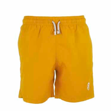 Boys Designer Swim Shorts, Yellow Plain