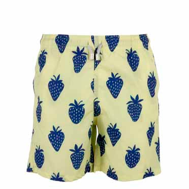 Yellow Strawberry - Men's Designer Swim Shorts - RobertandSon
