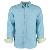 Mens Tobias Shirt, Light Blue - RobertandSon
