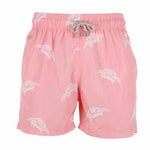 Father and Son Designer Swim Shorts, Pink Turtle