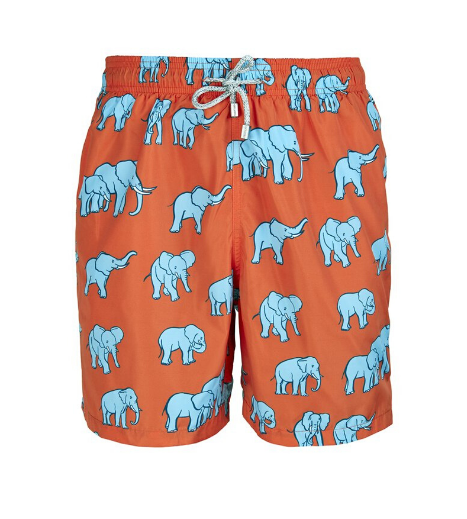 Red Elephants - Men's Designer Swim Shorts