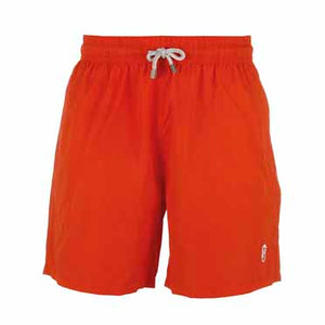 Father and Son Designer Swim Shorts, Red Plain