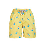 Yellow Parrot - Boy's Swim Shorts