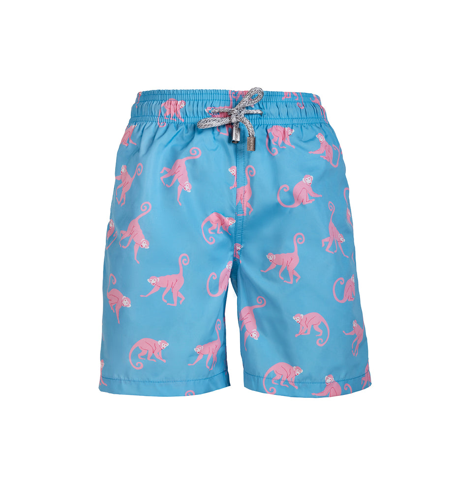Light Blue Monkeys - Baby Swim Shorts