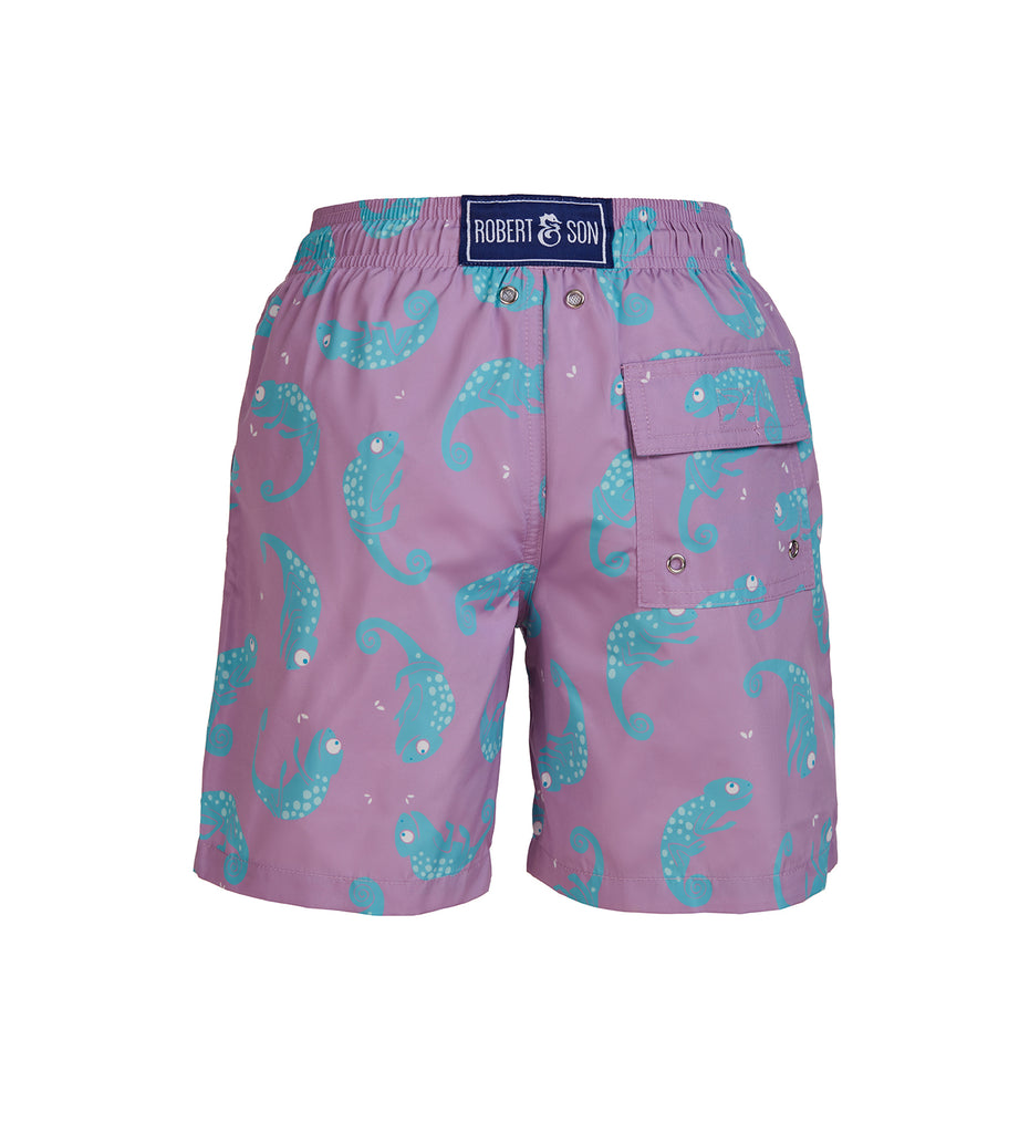 Lilac Chameleon - Boy's Swim Shorts