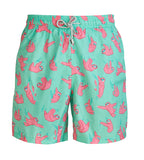 Green Sloths - Men's Designer Swim Shorts