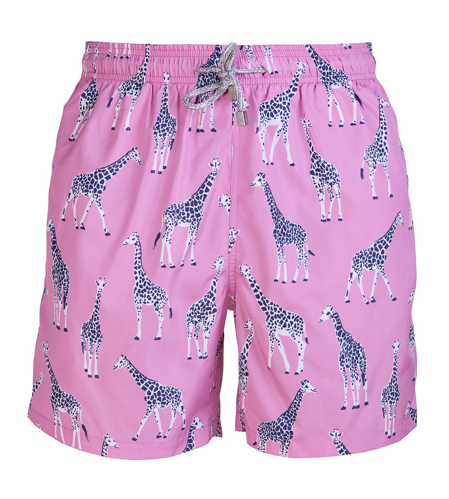 Pink Giraffe - Men's Designer Swim Shorts