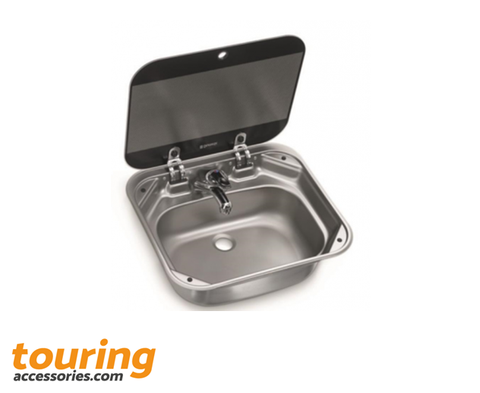 DOMETIC VA8005 Stainless Steel Sink with Glass Lid