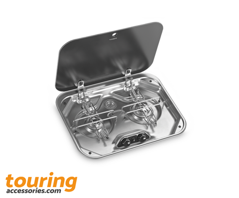 DOMETIC PI8022 2 BURNER HOB WITH GLASS LID