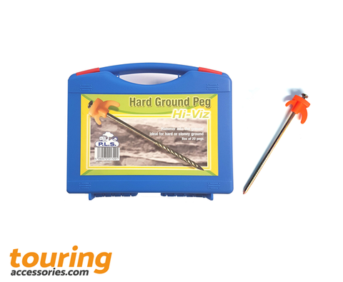 Hard Ground Pegs Hi Viz - Box of 20