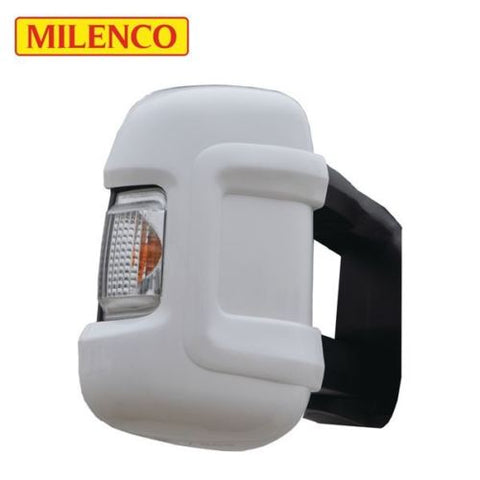 Pair of Milenco Long Arm Mirror Protectors (White)