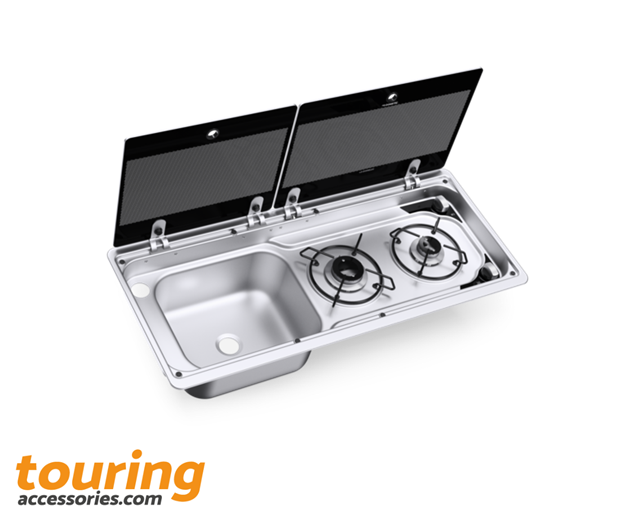 DOMETIC MO9722 2 Burner Hob & Sink L/H