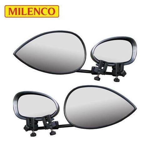 MILENCO Aero 3, Flat Glass Towing Mirror, Strap-Free, Twin Pack (ML1601)