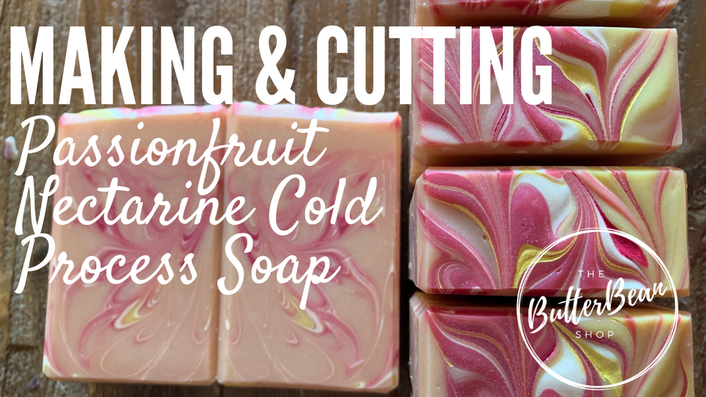 Making and Cutting Passionfruit Nectarine Soap