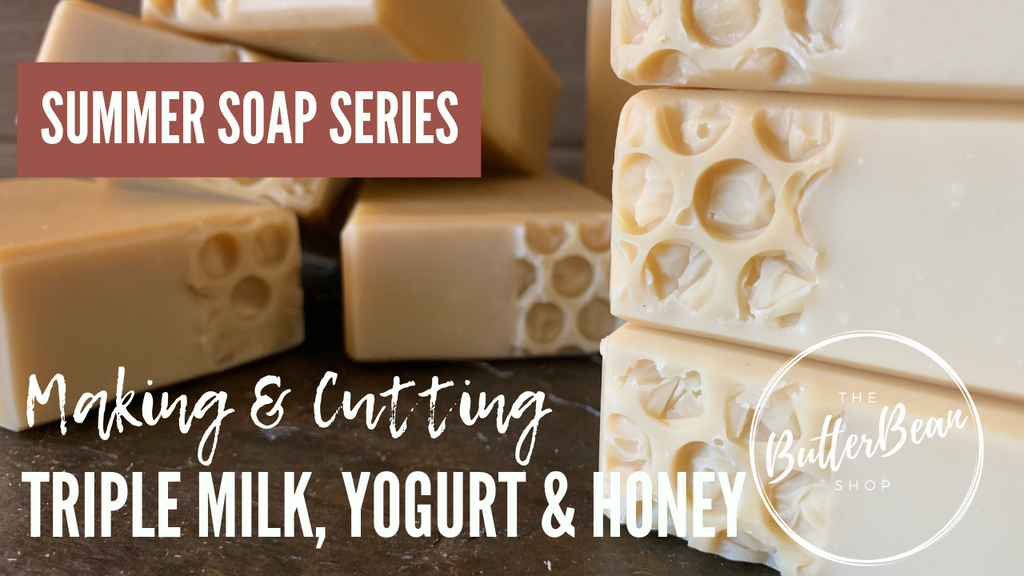 Watch Me Make Triple Milk, Yogurt & Honey Soap