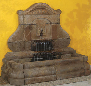 Avignon Fleur de Lys Fountain, 1-Pc. Basin & 1-Pc. Wall, 3 pc.(5224B, 5225W, 6228+AD &  CK401, PS450)