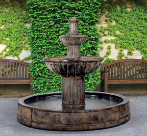 Fluted in Valencia Fountain, 9 pc.(5125, 6127, 6128, 7127+AD, 6504, 9024[4] & CK92, P15)
