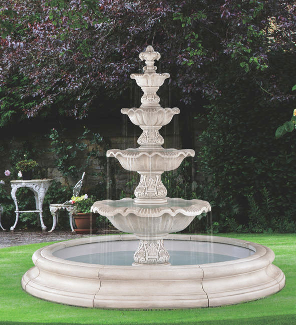 Four Tier Renaissance Fountain In Toscana Pool, 18 pc.(5705, 6705, 7705, 6706+AD, 7707+AD, 6708+AD, 7708+AD, 6709+AD, 7711+AD, 6719, 9019N[8] & CK91, PS1300)