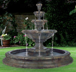 Grande Kensington Three Tier Fountain in Toscana Pool, 13 pc. (Original Surrounds)(5595, 6595, 6596S, 7596+AD, 6597, 7598, 7598AD, 6719, 9019[6] & CK35, PS1300)