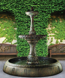 Grande Riviera Fountain in Perpetual Pool, 5 pc.(5075+AD, 6075A, 7075+AD, 6075B, 7224 & CK400, PS850)