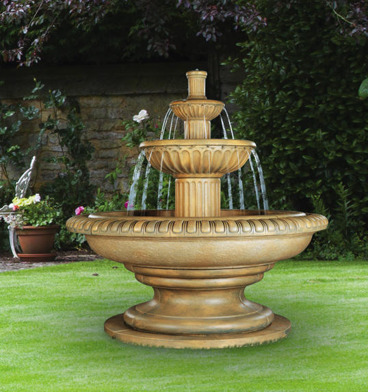 Palazzo Fluted Fountain, 15 pc.(5125, 6097[4], 6098, 6127, 6128, 7097[3], 7127+AD, 7098[3] & CK90, P15)