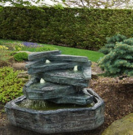 Slate Springs Fountain, 2 pc.(5898A, 5898B & CK482, PS450, AB870-3)