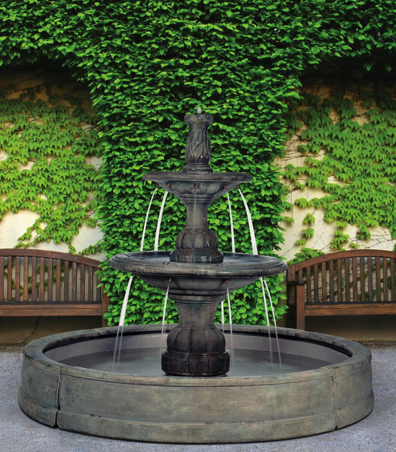Small Contemporary Tier in Valencia Fountain, 10 pc.(5532, 6532, 6533, 7533+AD, 7772, 6504, 9024[4] & CK600, P500)