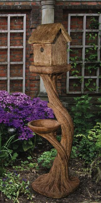 Tall Square Bird House, 2 pc.