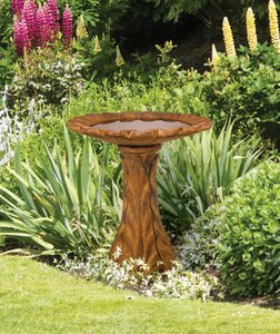 Tapered Petal Birdbath