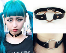 Load image into Gallery viewer, Pastel Goth Kawaii O-Ring collar choker