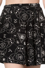 Load image into Gallery viewer, 9 Lives Cat Occult Skater mini Skirt