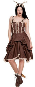 Nia Steampunk Bustle Dress